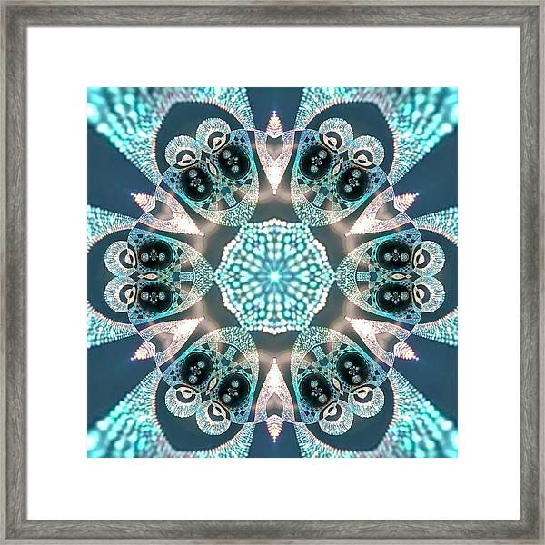 Framed Print featuring the digital art Jyoti Ahau 59 by Robert Thalmeier