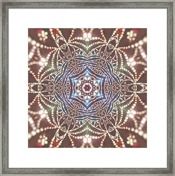 Framed Print featuring the digital art Jyoti Ahau 6 by Robert Thalmeier