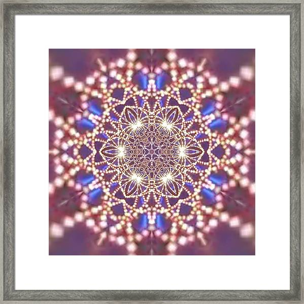 Framed Print featuring the digital art Jyoti Ahau 7 by Robert Thalmeier