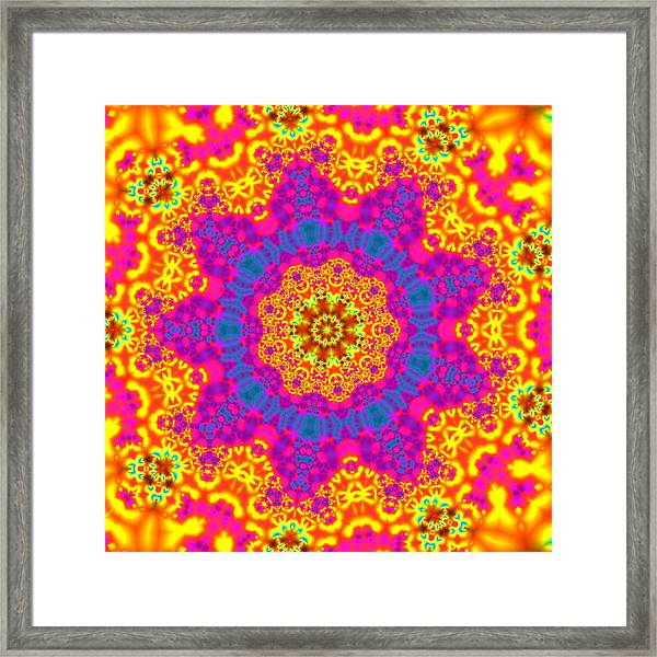 Framed Print featuring the digital art Jyoti Ahau 83 by Robert Thalmeier