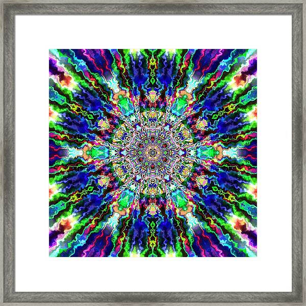 Framed Print featuring the digital art Jyoti Ahau 86 by Robert Thalmeier