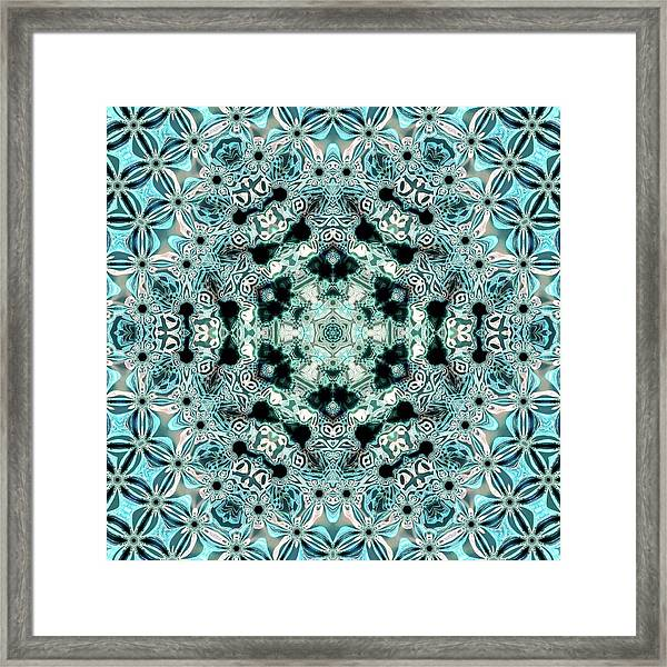 Framed Print featuring the digital art Jyoti Ahau 996 by Robert Thalmeier