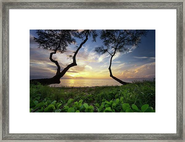Ka'anapali Sunset Framed Print
