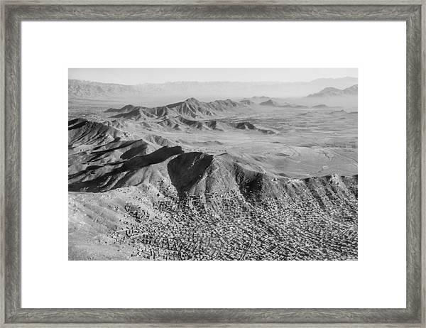 Kabul Mountainous Urban Sprawl Framed Print
