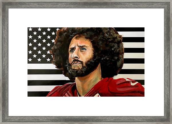 Kaeptain America Framed Print