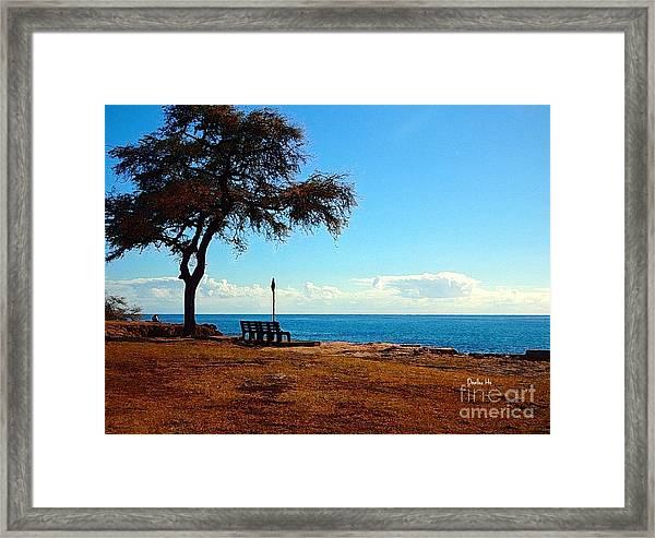 Kahe Point Beach Park Framed Print