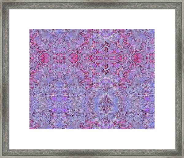 Kaleid Abstract Halo Framed Print