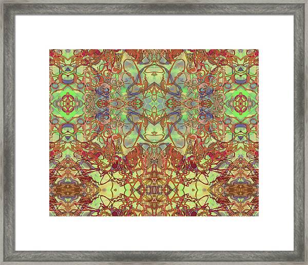 Kaleid Abstract Tapestry Framed Print