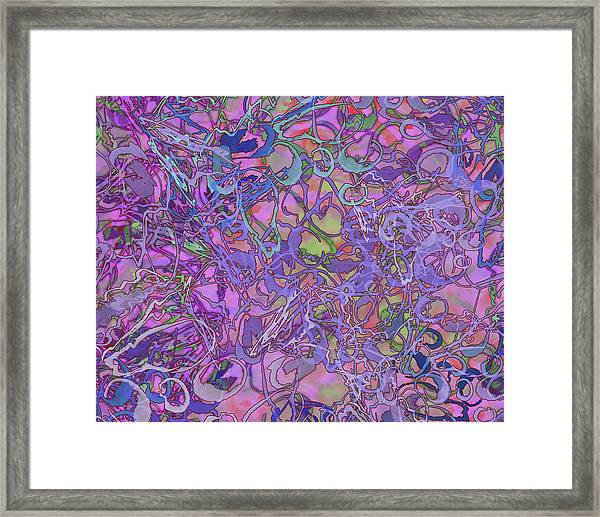 Kaleid Abstract Trip Framed Print