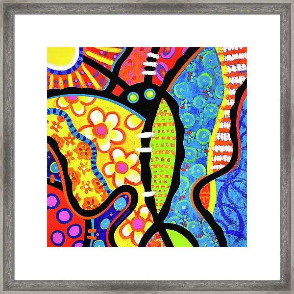 Kaleidoscope Butterfly Framed Print