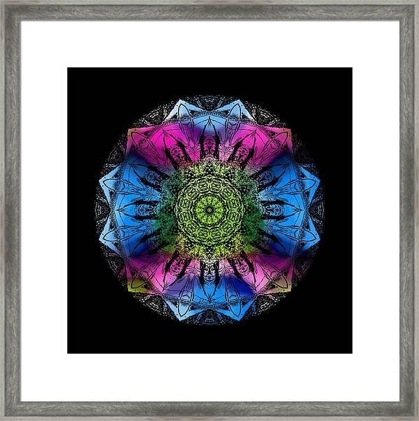 Kaleidoscope - Colorful Framed Print