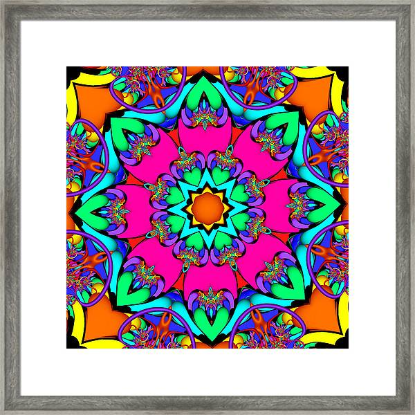 Kaleidoscope Flower 03 Framed Print