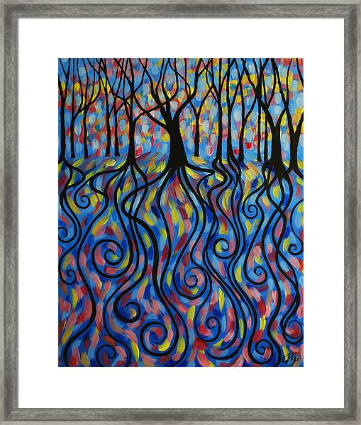 Kaleidoscope Forest Framed Print