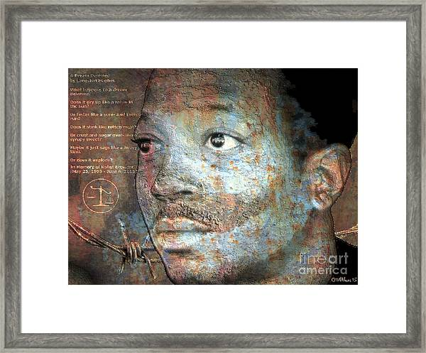 Kalief Browder - A Young Martyr Framed Print