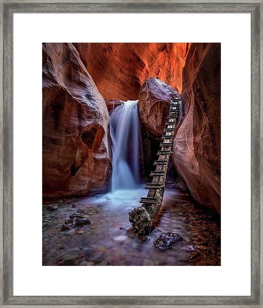 Kanarraville Falls Framed Print