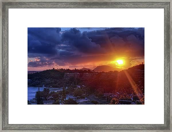 Kaneohe Sunrise Framed Print