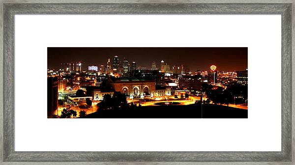 Kansas City Lights Framed Print