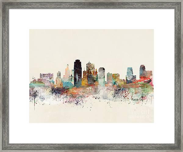 Kansas City Missouri Framed Print