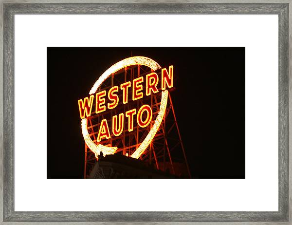 Kansas City Western Auto Framed Print