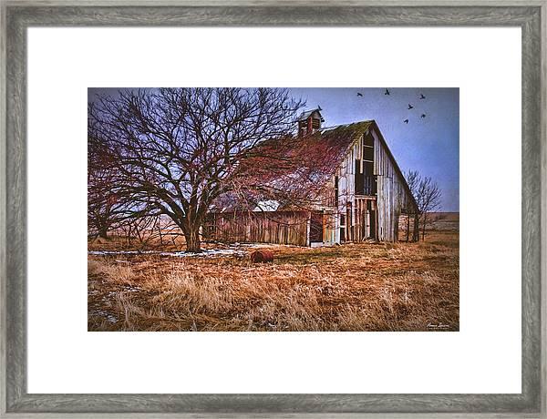 Kansas Countryside Old Barn Framed Print