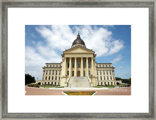 Kansas State Capitol Building Framed Print