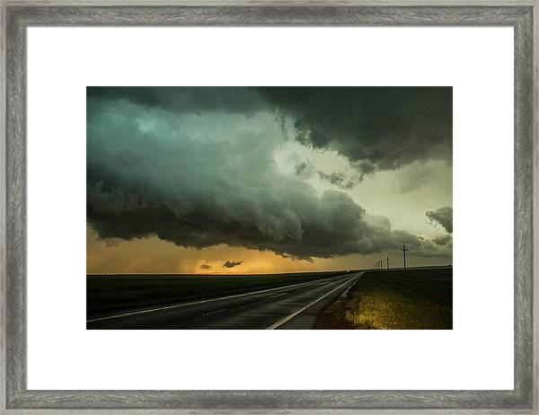 Kansas Storm Chase Bust Day 004 Framed Print