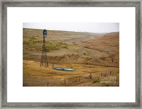 Kansas Watering Hole Framed Print