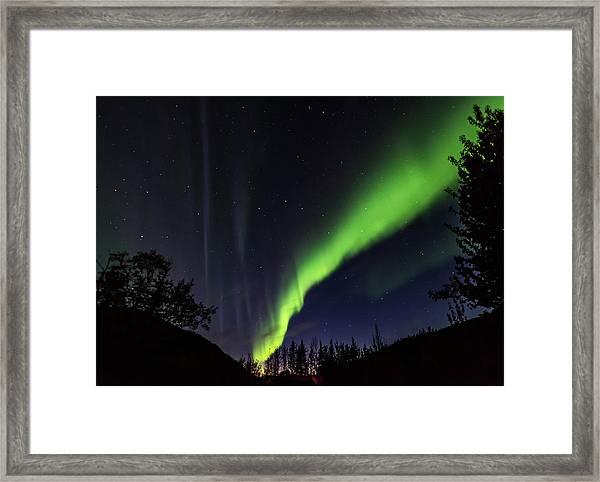 Kantishna Northern Lights In Denali National Park Framed Print