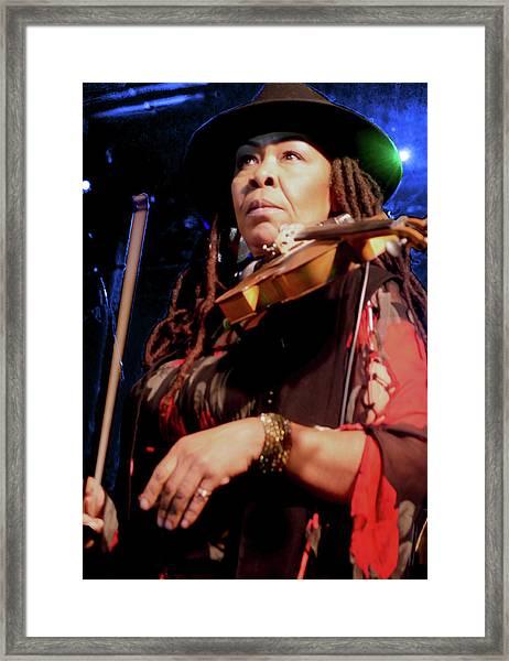 Karen Briggs 2017 Hub City Jazz Festival - Pause Framed Print
