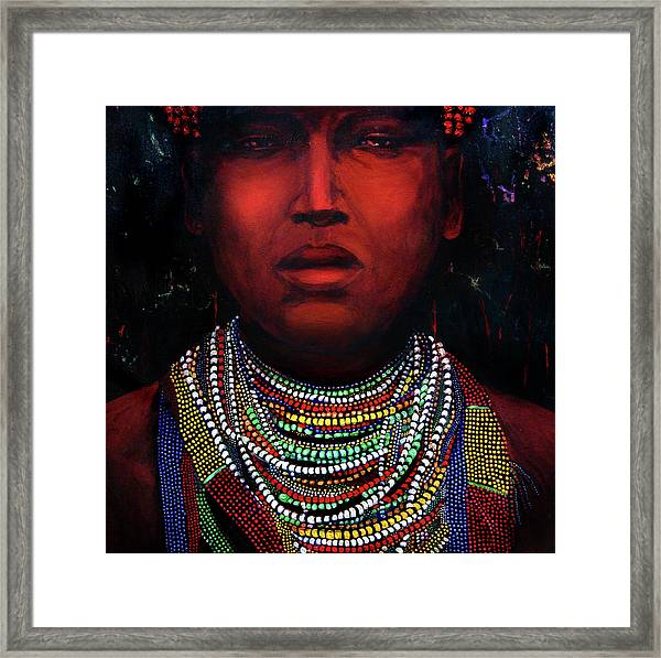 Karo Of The Omo River Framed Print