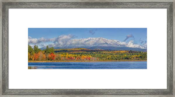 Katahdin In Fall Framed Print