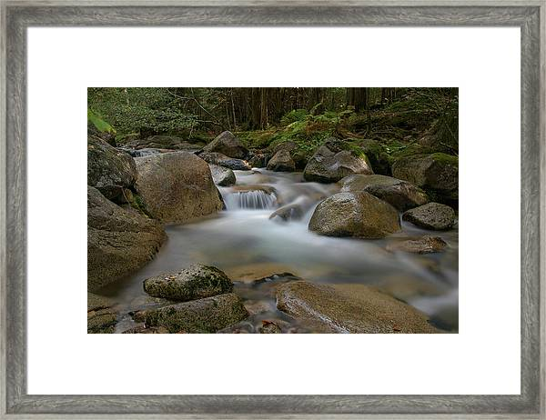 Katahdin Stream Cascades Framed Print