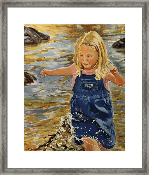 Kate Splashing Framed Print