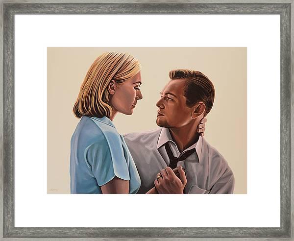 Kate Winslet And Leonardo Dicaprio Framed Print