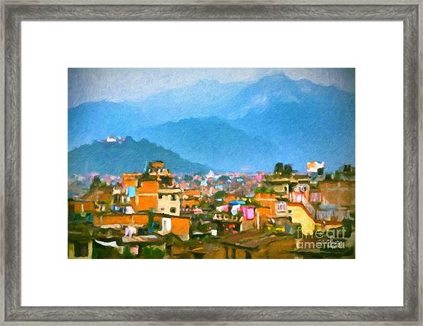 Kathmandu, Nepal Framed Print