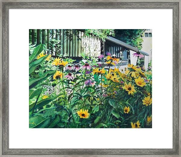Kathys Garden Framed Print
