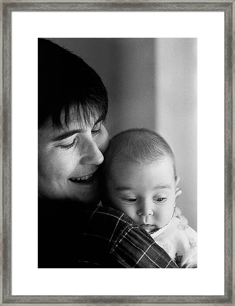 Katie And Alice Framed Print