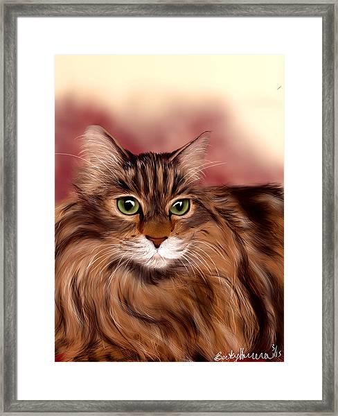 Katie- Custom Cat Portrait Framed Print
