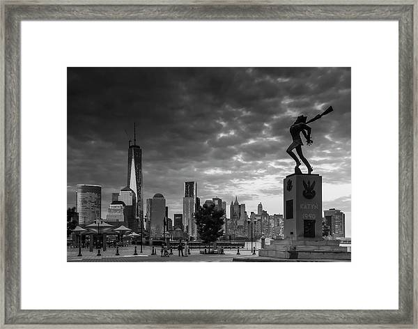 Katyn New World Trade Center In New York Framed Print