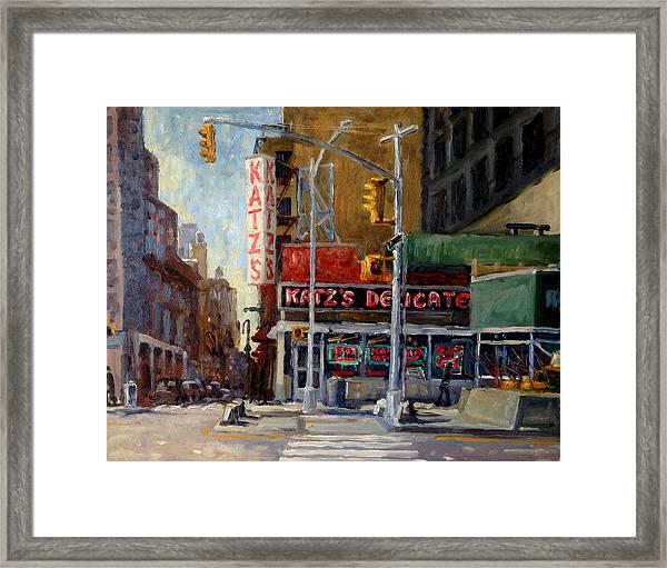 Katz's Delicatessen, New York City Framed Print