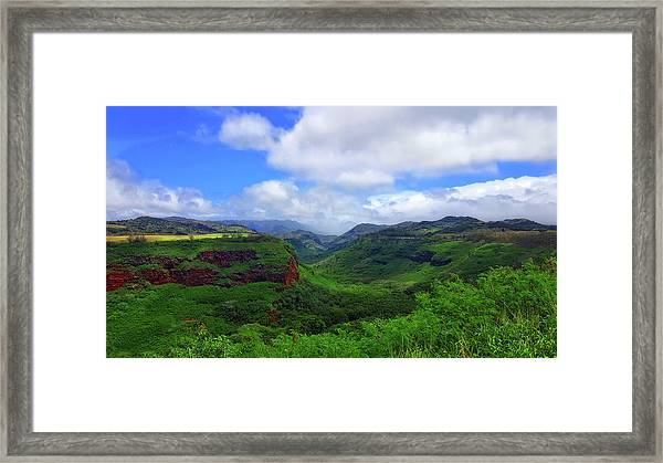 Kauai Mountains Framed Print