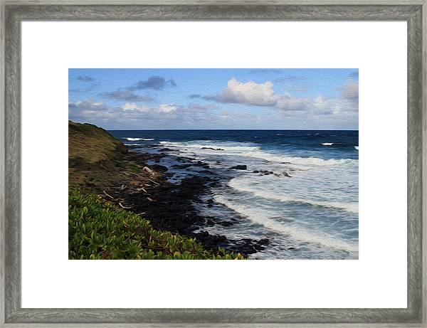 Kauai Shore 1 Framed Print