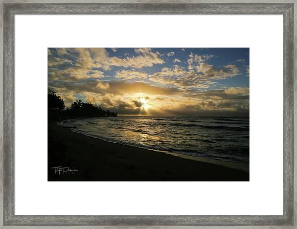Kauai Sunrise Framed Print