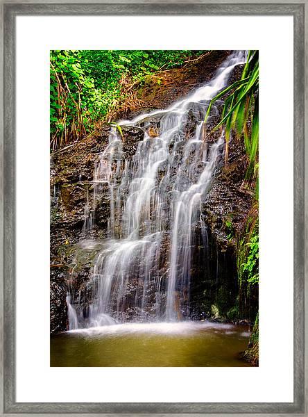Kauai Water Cascade Framed Print