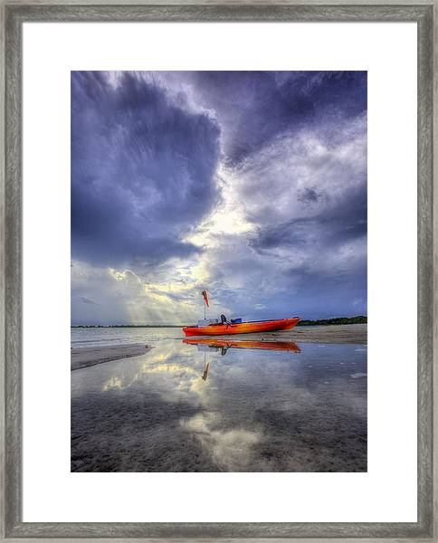 Kayak Panama City Beach Framed Print by JC Findley