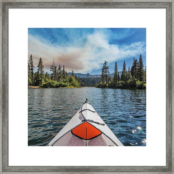 Kayak Views Framed Print