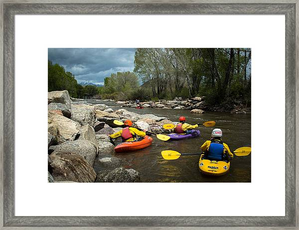 Kayaking Class Framed Print