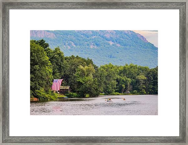 Kayaking On Nashawannuck Pond Easthampon Framed Print