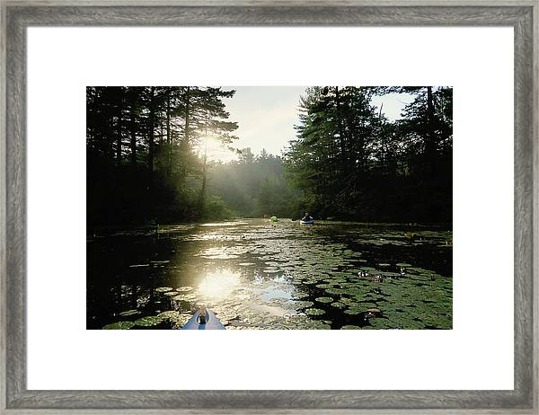 Kayaking Framed Print