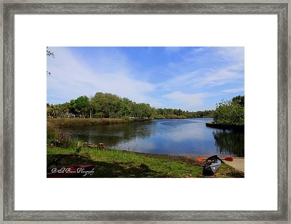 Kayaking The Cotee River Framed Print